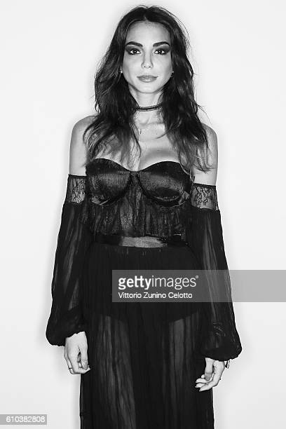Chiara Biasi poses for a portrait during amfAR Milano 2016 at La Permanente on September 24 2016 in Milan Italy