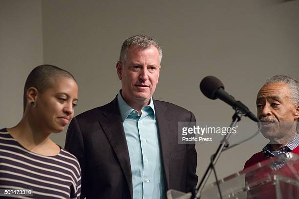 Chiara Bill de Blasio and Al Sharpton New York City Mayor Bill de Blasio and his daughter Chiara joined Reverend Al Sharpton at the House of Justice...