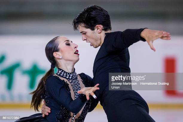 Chiara Calderone and Pietro Papetti of Italy compete in the Junior Ice Dance Free Dance during day one of the ISU Junior Grand Prix of Figure Skating...
