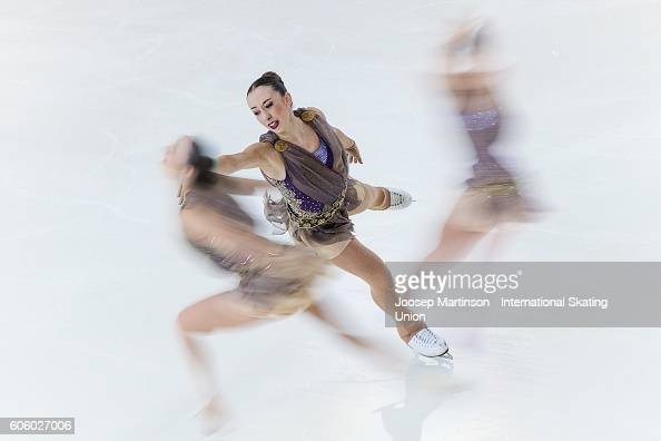 Chiara Calderone of Italy competes during the Junior Ladies Short Program on day two of the ISU Junior Grand Prix of Figure Skating on September 16...