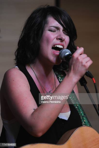 Chiara Canzian performs during 2011 Turin International Book Fair on May 13 2011 in Turin Italy