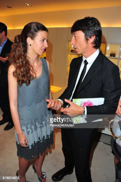 Chiara Clemente and Pier Paolo Piccioli attend VALENTINO hosts Carlos Mota book launch 'Flowers Chic and Cheap' at Valentino on May 4 2010 in New...