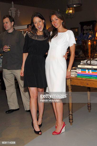 Chiara De Rege and Tessa Benson attend Cocktails at Hollyhock Honoring Mish NY and the Breast Center at UCLA at West Hollywood on May 7 2007 in West...
