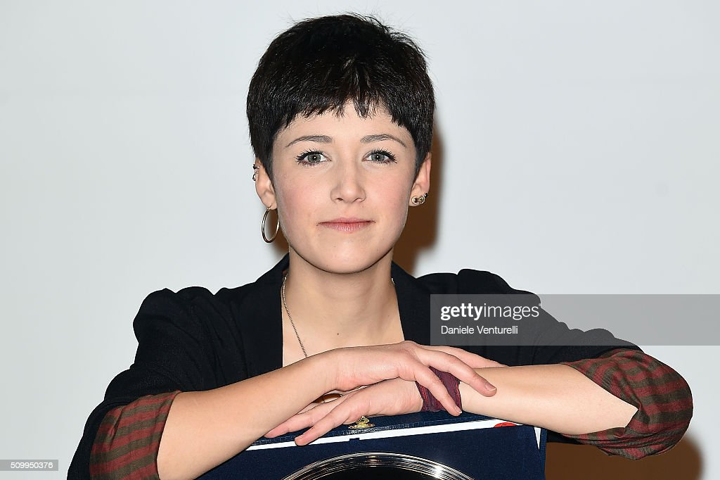 Chiara Dello Iacovo attends a photocall at 66. Sanremo Festival on February 13, 2016 in Sanremo, Italy.