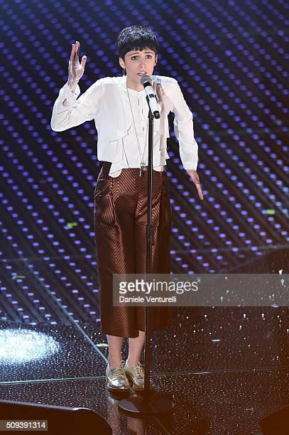 Chiara Dello Iacovo attends second night of the 66th Festival di Sanremo 2016 at Teatro Ariston on February 10 2016 in Sanremo Italy