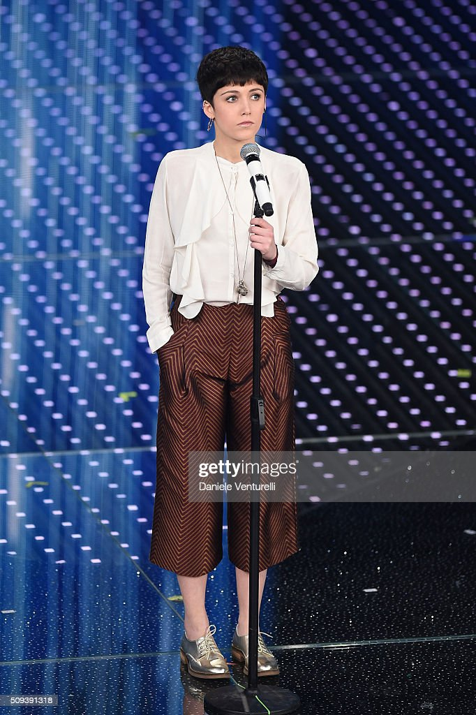 Chiara Dello Iacovo attends second night of the 66th Festival di Sanremo 2016 at Teatro Ariston on February 10, 2016 in Sanremo, Italy.