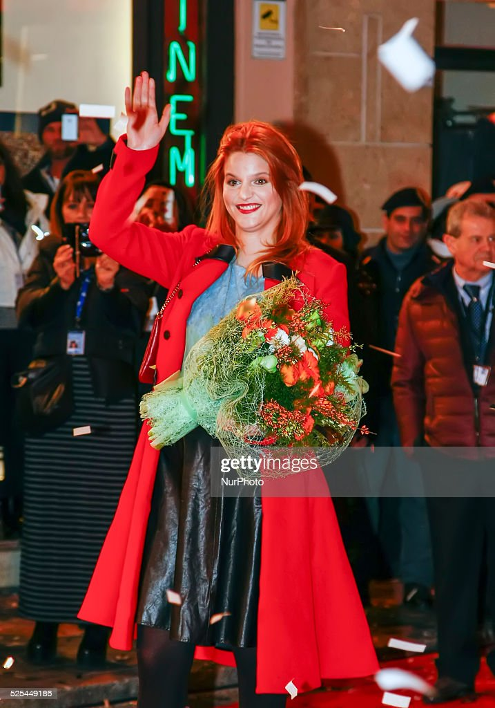 Chiara during the catwalk before the start of the sixtyfifth festival of Italian song of Sanremo on February 9 2015