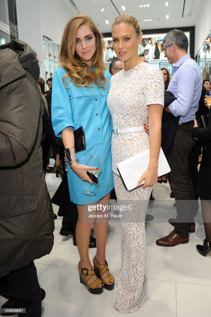 <a gi-track='captionPersonalityLinkClicked' href=/galleries/search?phrase=Chiara+Ferragni&family=editorial&specificpeople=6755910 ng-click='$event.stopPropagation()'>Chiara Ferragni</a> and <a gi-track='captionPersonalityLinkClicked' href=/galleries/search?phrase=Bar+Refaeli&family=editorial&specificpeople=468932 ng-click='$event.stopPropagation()'>Bar Refaeli</a> attend Michael Kors To celebrate Milano opening on December 4, 2013 in Milan, Italy.