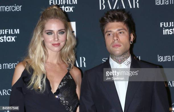 Chiara Ferragni and Fedez attend the 2017 Harper's Bazaar Icons at The Plaza Hotel on September 8 2017 in New York City