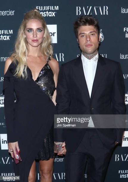 Chiara Ferragni and Fedez attends the 2017 Harper's Bazaar Icons at The Plaza Hotel on September 8 2017 in New York City