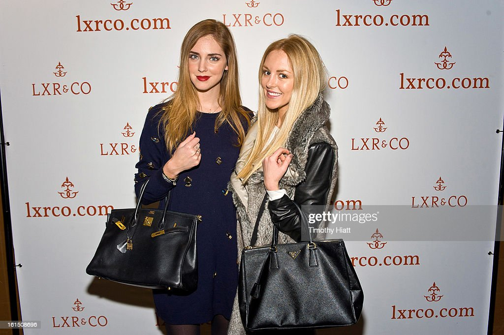 <a gi-track='captionPersonalityLinkClicked' href=/galleries/search?phrase=Chiara+Ferragni&family=editorial&specificpeople=6755910 ng-click='$event.stopPropagation()'>Chiara Ferragni</a> and Shea Marie attend the LXR & Co E-Commerce Launch At Empire Hotel Hosted By <a gi-track='captionPersonalityLinkClicked' href=/galleries/search?phrase=Chiara+Ferragni&family=editorial&specificpeople=6755910 ng-click='$event.stopPropagation()'>Chiara Ferragni</a> (The Blonde Salad) & Shea Marie (Peace, Love, Shea) at Empire Hotel on February 11, 2013 in New York City.