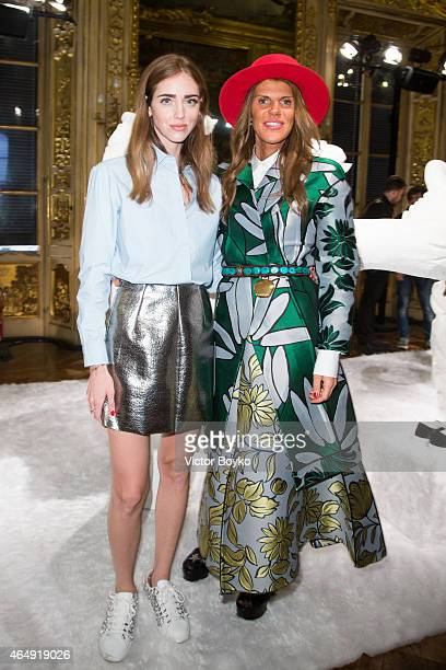 Chiara Ferragni Anna Dello Russo attend the Chiara Ferragni Presentation as part of the Milan Fashion Week Autumn/Winter 2015 on March 1 2015 in...