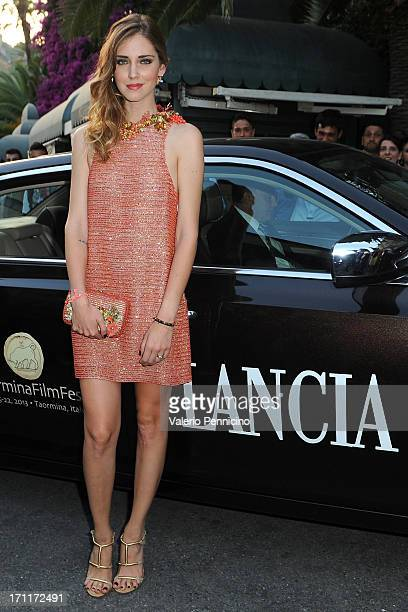 Chiara Ferragni arrives the Lancia Cafe during the Taormina Filmfest 2013 on June 22 2013 in Taormina Italy
