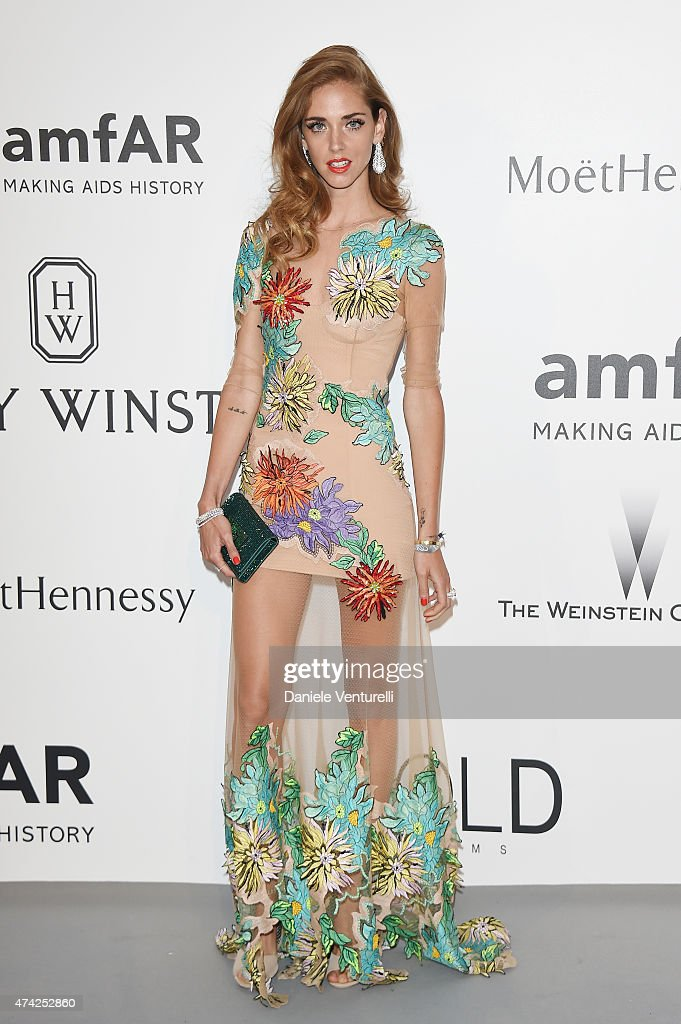 Chiara Ferragni attends amfAR's 22nd Cinema Against AIDS Gala, Presented By Bold Films And Harry Winston at Hotel du Cap-Eden-Roc on May 21, 2015 in Cap d'Antibes, France.