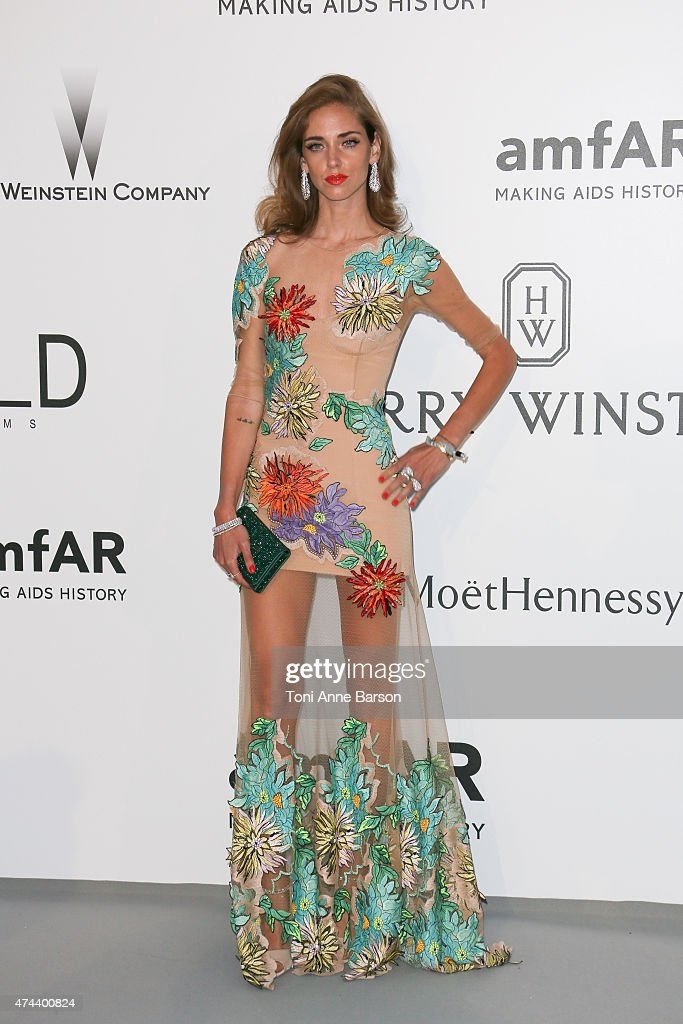 Chiara Ferragni attends amfAR's 22nd Cinema Against AIDS Gala Presented By Bold Films And Harry Winston at Hotel du CapEdenRoc on May 21 2015 in Cap...
