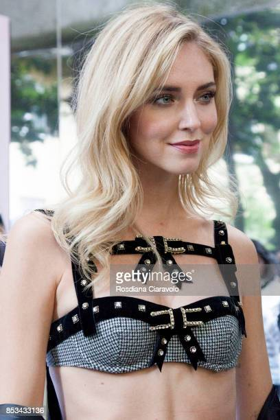 Chiara Ferragni attends at the Chiara Ferragni presentation during Milan Fashion Week Spring/Summer 2018 on September 23 2017 in Milan Italy