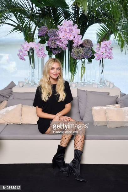 Chiara Ferragni attends Calzedonia Legs Show on September 5 2017 in Verona Italy