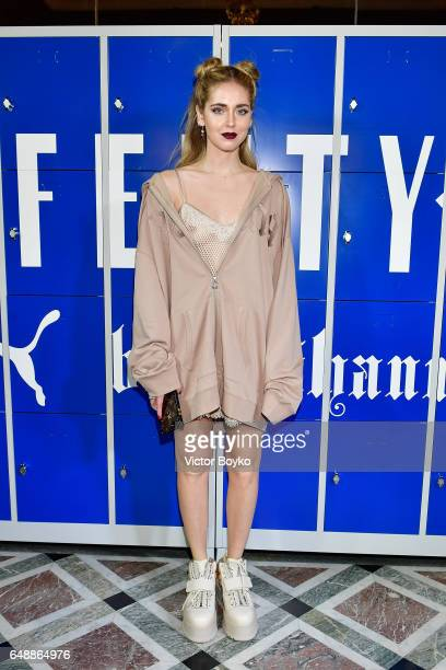 Chiara Ferragni attends FENTY PUMA by Rihanna Fall / Winter 2017 Collection at Bibliotheque Nationale de France on March 6 2017 in Paris France