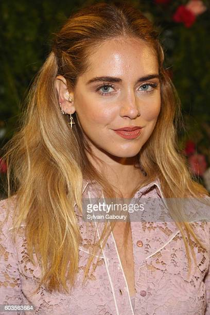 Chiara Ferragni attends Laduree and Chiara Ferragni Celebrate Collaboration with NYFW Cocktail on September 12 2016 in New York City