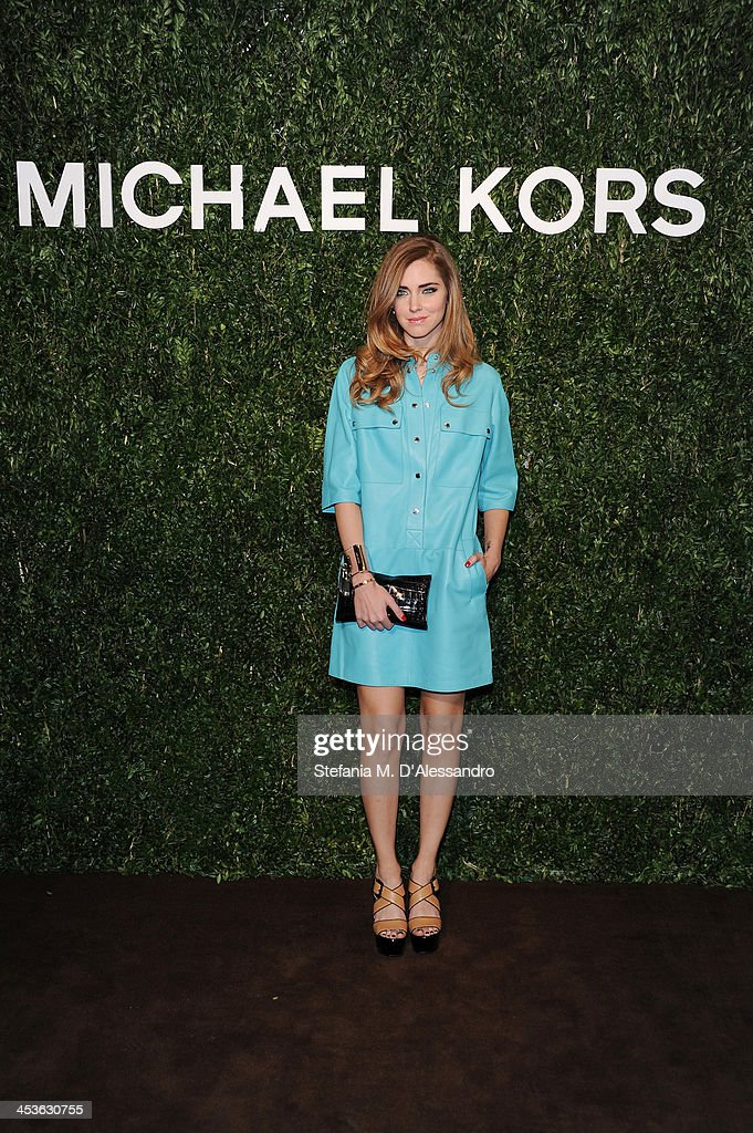 <a gi-track='captionPersonalityLinkClicked' href=/galleries/search?phrase=Chiara+Ferragni&family=editorial&specificpeople=6755910 ng-click='$event.stopPropagation()'>Chiara Ferragni</a> attends Michael Kors To Celebrate Milano on December 4, 2013 in Milan, Italy.