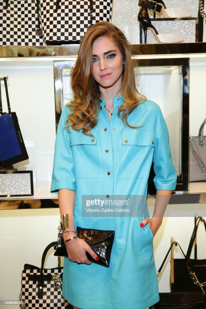 <a gi-track='captionPersonalityLinkClicked' href=/galleries/search?phrase=Chiara+Ferragni&family=editorial&specificpeople=6755910 ng-click='$event.stopPropagation()'>Chiara Ferragni</a> attends Michael Kors To celebrate Milano opening on December 4, 2013 in Milan, Italy.
