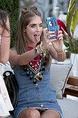 Chiara Ferragni attends Moet Chandon kicks off Coachella With REVOLVE on April 15 2016 in Palm Springs California