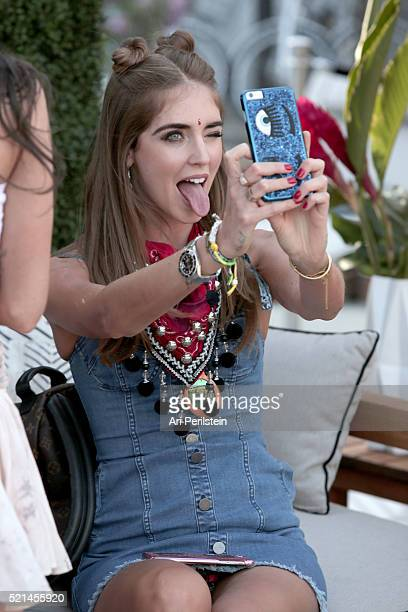 Chiara Ferragni attends Moet Chandon kicks off Coachella With REVOLVE on April 15 2016 in Palm Springs California
