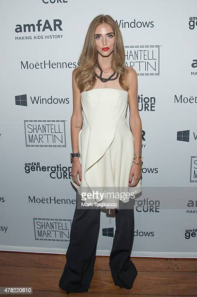 Chiara Ferragni attends the 4th Annual Solstice Presented By amfAR's generationCURE at the Hudson Hotel on June 23 2015 in New York City