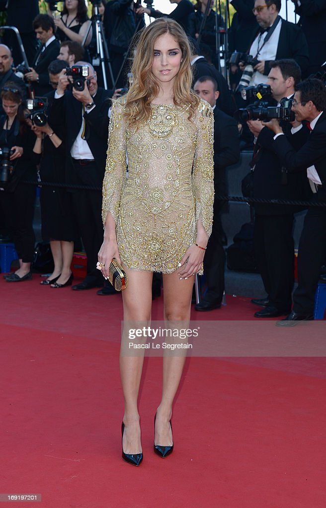 Chiara Ferragni attends the 'Behind The Candelabra' premiere during The 66th Annual Cannes Film Festival at Theatre Lumiere on May 21, 2013 in Cannes, France.