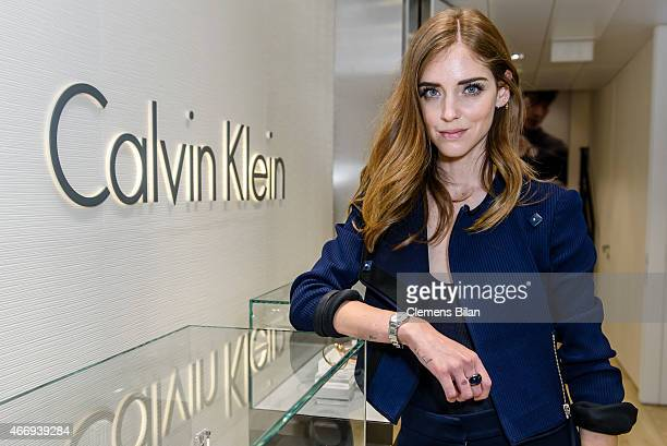 Chiara Ferragni attends the Calvin Klein Watches Jewelery booth at Baselworld 2015 on March 19 2015 in Basel Switzerland