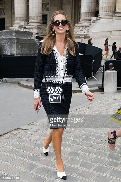 Chiara Ferragni attends the Chanel Haute Couture Fall/Winter 20162017 show as part of Paris Fashion Week on July 5 2016 in Paris France