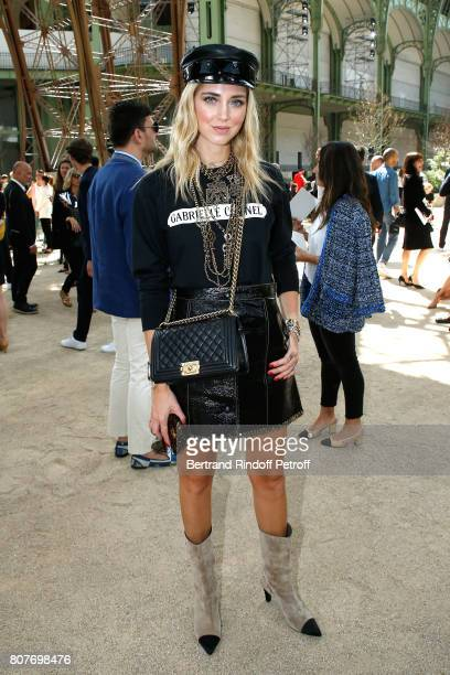 Chiara Ferragni attends the Chanel Haute Couture Fall/Winter 20172018 show as part of Haute Couture Paris Fashion Week on July 4 2017 in Paris France