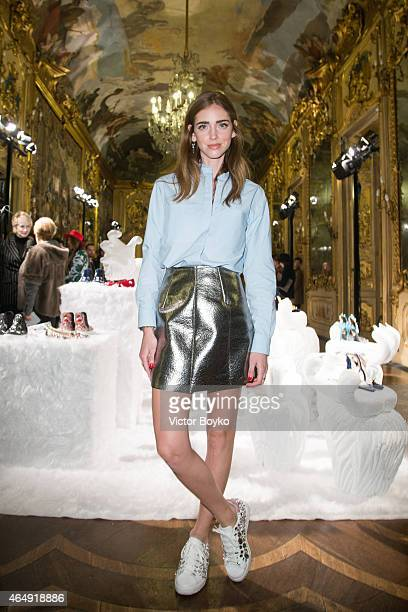 Chiara Ferragni attends the Chiara Ferragni Presentation as part of the Milan Fashion Week Autumn/Winter 2015 on March 1 2015 in Milan Italy