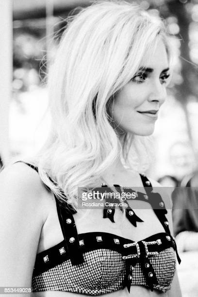 Chiara Ferragni attends the Chiara Ferragni presentation during Milan Fashion Week Spring/Summer 2018 on September 23 2017 in Milan Italy