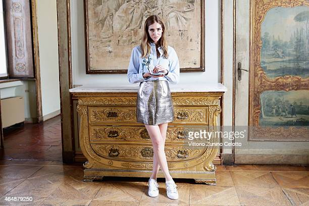 Chiara Ferragni attends the Chiara Ferragni Presentation during the Milan Fashion Week Autumn/Winter 2015 on March 1 2015 in Milan Italy