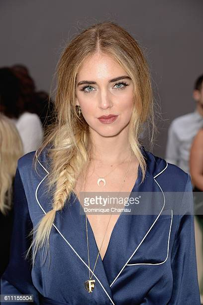 Chiara Ferragni attends the Chloe show as part of the Paris Fashion Week Womenswear Spring/Summer 2017 on September 29 2016 in Paris France
