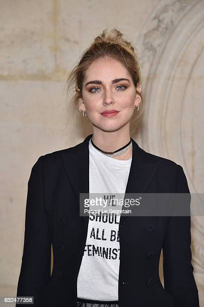Chiara Ferragni attends the Christian Dior Haute Couture Spring Summer 2017 show as part of Paris Fashion Week on January 23 2017 in Paris France
