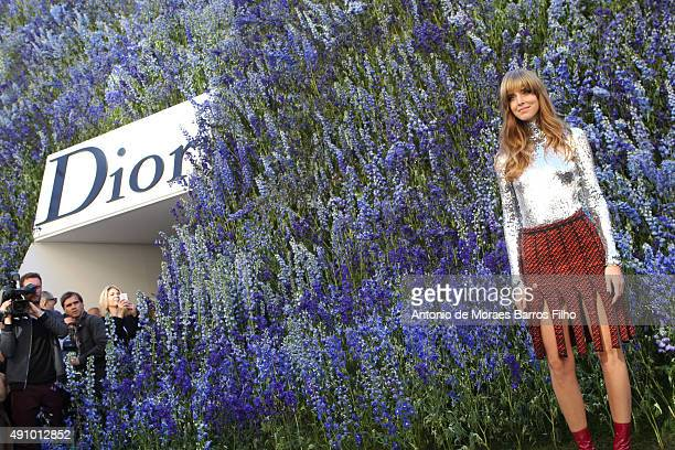 Chiara Ferragni attends the Christian Dior show as part of the Paris Fashion Week Womenswear Spring/Summer 2016 on October 2 2015 in Paris France