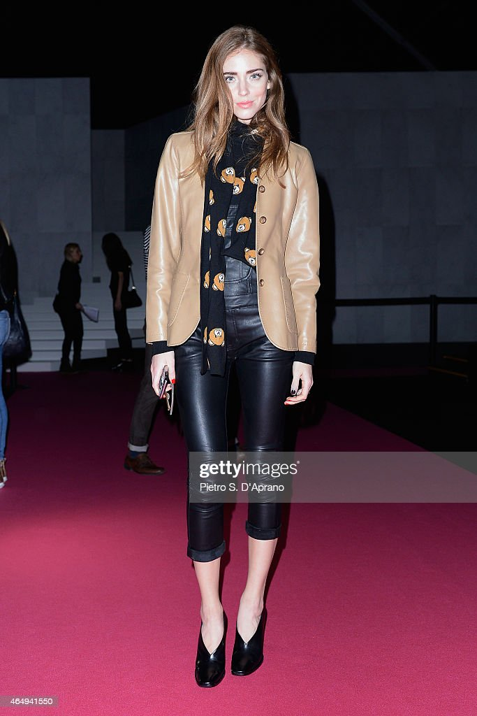 Chiara Ferragni attends the Dsquared2 show during the Milan Fashion Week Autumn/Winter 2015 on March 2, 2015 in Milan, Italy.