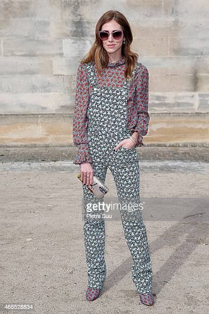 Chiara Ferragni attends the Elie Saab show as part of the Paris Fashion Week Womenswear Fall/Winter 2015/2016 on March 7 2015 in Paris France