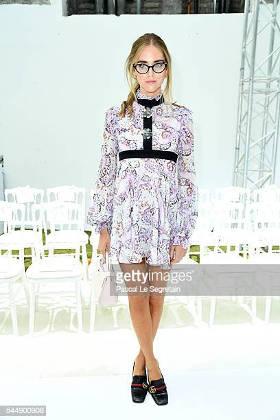 Chiara Ferragni attends the Giambattista Valli Haute Couture Fall/Winter 20162017 show as part of Paris Fashion Week on July 4 2016 in Paris France