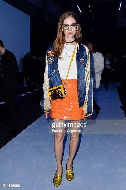 Chiara Ferragni attends the Giambattista Valli show as part of the Paris Fashion Week Womenswear Fall/Winter 2016/2017 on March 7 2016 in Paris France