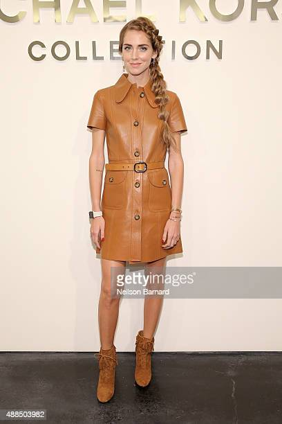Chiara Ferragni attends the Michael Kors Spring 2016 Runway Show during New York Fashion Week The Shows at Spring Studios on September 16 2015 in New...