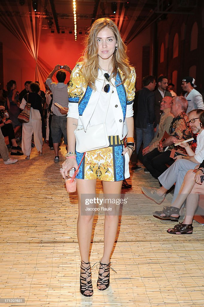 Chiara Ferragni attends the Missoni Collection show during Milan Menswear Fashion Week Spring Summer 2014 on June 23, 2013 in Milan, Italy.
