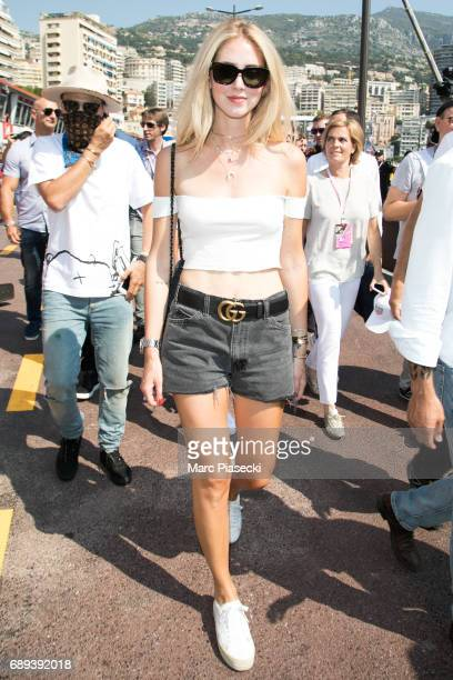 Chiara Ferragni attends the Monaco Formula 1 Grand Prix at the Monaco street circuit on May 28 2017 in Monaco