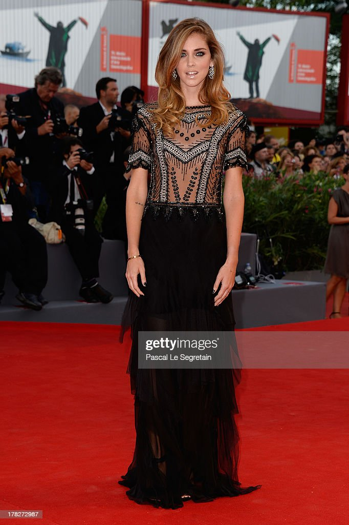Chiara Ferragni attends the Opening Ceremony And 'Gravity' Premiere during the 70th Venice International Film Festival at the Palazzo del Cinema on August 28, 2013 in Venice, Italy.