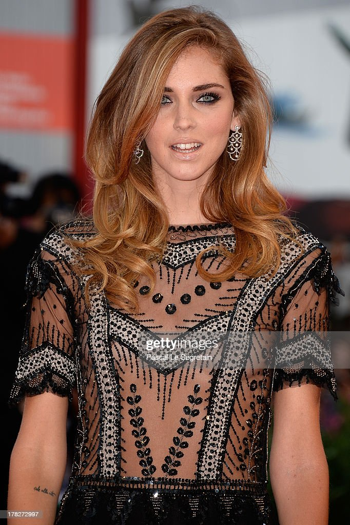 <a gi-track='captionPersonalityLinkClicked' href=/galleries/search?phrase=Chiara+Ferragni&family=editorial&specificpeople=6755910 ng-click='$event.stopPropagation()'>Chiara Ferragni</a> attends the Opening Ceremony And 'Gravity' Premiere during the 70th Venice International Film Festival at the Palazzo del Cinema on August 28, 2013 in Venice, Italy.