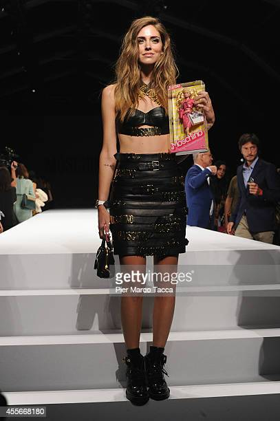 Chiara Ferragni attends the Ports1961 show during the Milan Fashion Week Womenswear Spring/Summer 2015 on September 18 2014 in Milan Italy