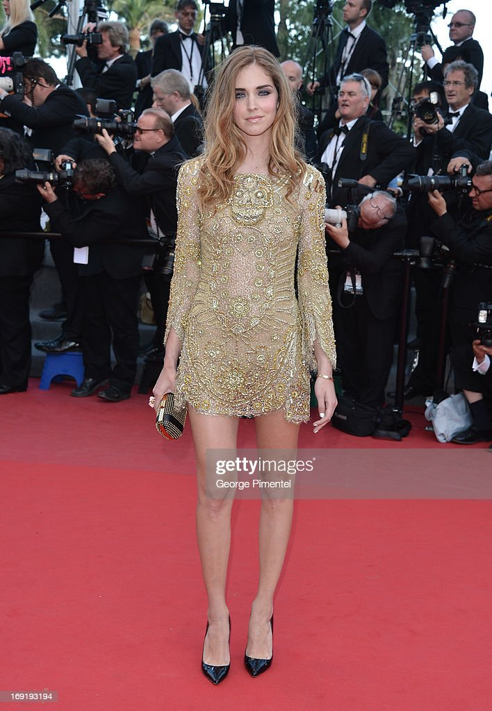 Chiara Ferragni attends the Premiere of 'Behind the Candelabra' at The 66th Annual Cannes Film Festival>> on May 21, 2013 in Cannes, France.