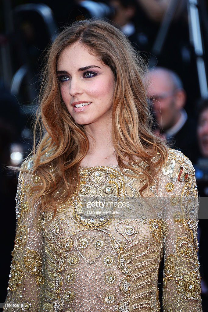 Chiara Ferragni attends the Premiere of 'Behind the Candelabra' during the 66th Annual Cannes Film Festival at Palais des Festivals on May 21, 2013 in Cannes, France.